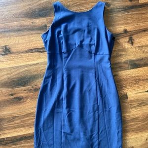 Classic Blue formal dress with lace back size 8